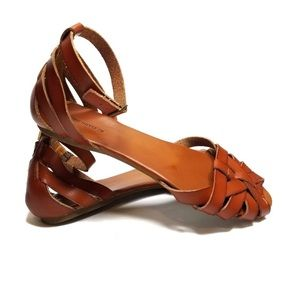 Mossimo Supply Co Ankle Strap Sandal 9.5 Cognac